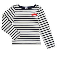 Oblačila Deklice Majice z dolgimi rokavi Petit Bateau MAHALIA Večbarvna