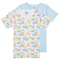 Oblačila Dečki Majice s kratkimi rokavi Petit Bateau MANUR Večbarvna