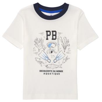 Oblačila Dečki Majice s kratkimi rokavi Petit Bateau MARCO Bela