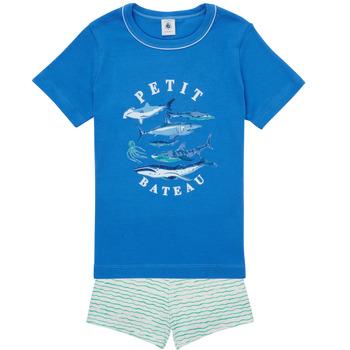 Oblačila Dečki Pižame & Spalne srajce Petit Bateau MAYONNAISE Večbarvna