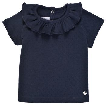 Oblačila Deklice Majice s kratkimi rokavi Petit Bateau MELISSA Modra