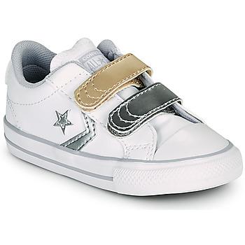 Čevlji  Deklice Nizke superge Converse STAR PLAYER 2V METALLIC LEATHER OX Bela