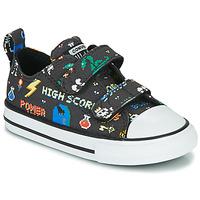 Čevlji  Dečki Nizke superge Converse CHUCK TAYLOR ALL STAR 2V BOYS GAMER OX Črna / Večbarvna