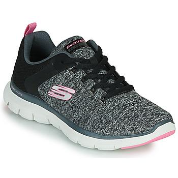 Čevlji  Ženske Fitnes / Trening Skechers FLEX APPEAL 4.0 Siva / Rožnata