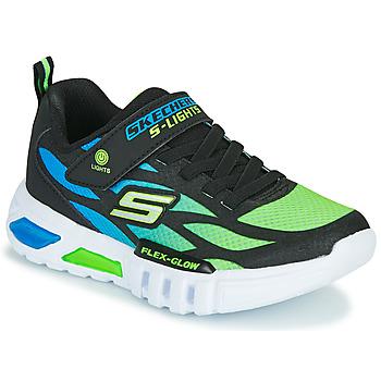 Čevlji  Dečki Nizke superge Skechers FLEX-GLOW Črna / Modra / Zelena