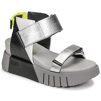 Čevlji  Ženske Sandali & Odprti čevlji United nude DELTA RUN Črna / Srebrna