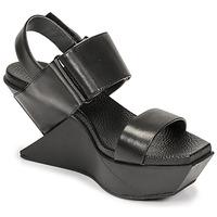Čevlji  Ženske Sandali & Odprti čevlji United nude DELTA WEDGE Črna