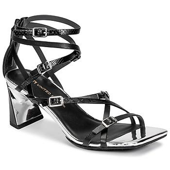 Čevlji  Ženske Sandali & Odprti čevlji United nude MOLTEN STRAPPY MID Črna