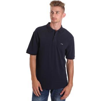 Oblačila Moški Polo majice kratki rokavi Les Copains 9U9015 Modra
