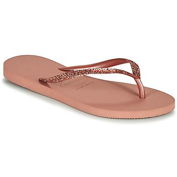 Čevlji  Ženske Japonke Havaianas SLIM GLITTER II Rožnata