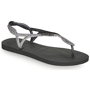Čevlji  Ženske Japonke Havaianas LUNA PREMIUM II Črna / Siva