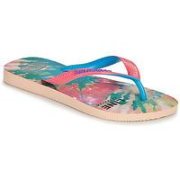 Čevlji  Ženske Japonke Havaianas TOP FASHION Rožnata