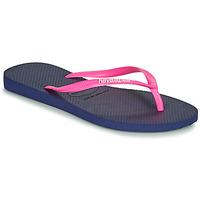 Čevlji  Ženske Japonke Havaianas SLIM LOGO Modra