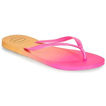 Čevlji  Ženske Japonke Havaianas SLIM GRADIENT Rožnata / Rumena