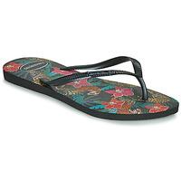 Čevlji  Ženske Japonke Havaianas SLIM TROPICAL Črna / Siva