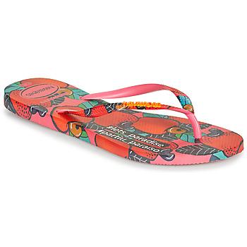 Čevlji  Ženske Japonke Havaianas SLIM SUMMER Rožnata / Rdeča