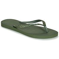 Čevlji  Ženske Japonke Havaianas SLIM GLITTER II Zelena