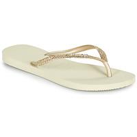 Čevlji  Ženske Japonke Havaianas SLIM GLITTER II Bež