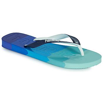 Čevlji  Japonke Havaianas TOP LOGOMANIA MULTICOLOR Modra