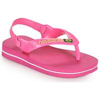 Čevlji  Deklice Japonke Havaianas BABY BRASIL LOGO II Rožnata