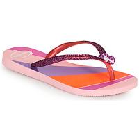 Čevlji  Deklice Japonke Havaianas KIDS SLIM GLITTER II Rožnata