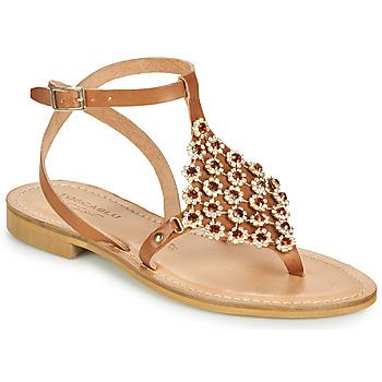 Čevlji  Ženske Sandali & Odprti čevlji Tosca Blu PERLA Kamel