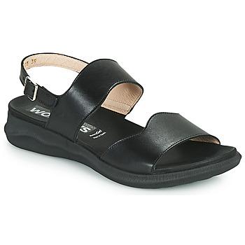 Čevlji  Ženske Sandali & Odprti čevlji Wonders PER Črna