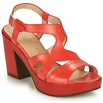 Čevlji  Ženske Sandali & Odprti čevlji Wonders PAROTI Rdeča