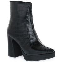 Čevlji  Ženske Nizki škornji Jeffrey Campbell DORMANT BLACK CROCO Nero