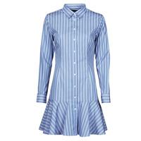Oblačila Ženske Kratke obleke Lauren Ralph Lauren TRIELLA Modra / Bela