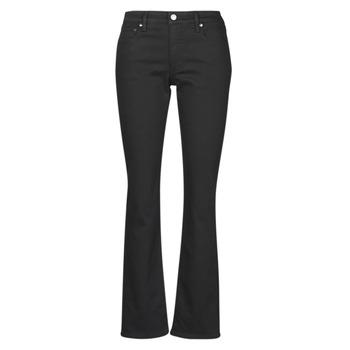 Oblačila Ženske Jeans straight Lauren Ralph Lauren MIDRISE STRT-5-POCKET-DENIM Črna