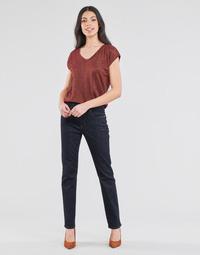 Oblačila Ženske Jeans straight Lauren Ralph Lauren MIDRISE STRT-5-POCKET-DENIM Modra