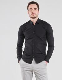 Oblačila Moški Srajce z dolgimi rokavi BOTD OMAN Črna