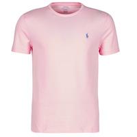 Oblačila Moški Majice s kratkimi rokavi Polo Ralph Lauren T-SHIRT AJUSTE COL ROND EN COTON LOGO PONY PLAYER Rožnata