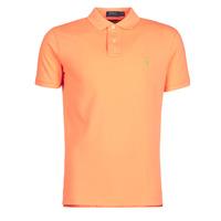 Oblačila Moški Polo majice kratki rokavi Polo Ralph Lauren POLO AJUSTE DROIT EN COTON BASIC MESH LOGO PONY PLAYER Oranžna