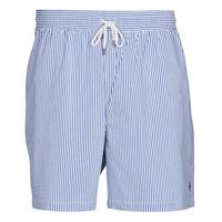 Oblačila Moški Kopalke / Kopalne hlače Polo Ralph Lauren MAILLOT SHORT DE BAIN RAYE SEERSUCKER CORDON DE SERRAGE ET POCHE Modra