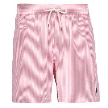 Oblačila Moški Kopalke / Kopalne hlače Polo Ralph Lauren MAILLOT SHORT DE BAIN RAYE SEERSUCKER CORDON DE SERRAGE ET POCHE Rdeča / Bela