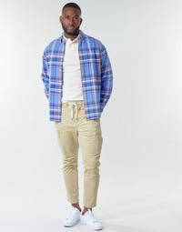 Oblačila Moški Hlače cargo Polo Ralph Lauren SHORT PREPSTER AJUSTABLE ELASTIQUE AVEC CORDON INTERIEUR LOGO PO Bež