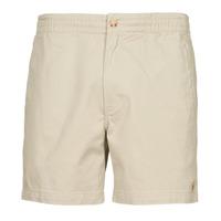 Oblačila Moški Kratke hlače & Bermuda Polo Ralph Lauren SHORT PREPSTER AJUSTABLE ELASTIQUE AVEC CORDON INTERIEUR LOGO PO Bež