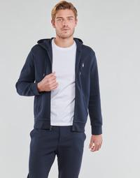 Oblačila Moški Puloverji Polo Ralph Lauren SWEATSHIRT A CAPUCHE ZIPPE EN JOGGING DOUBLE KNIT TECH LOGO PONY Modra