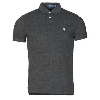 Oblačila Moški Polo majice kratki rokavi Polo Ralph Lauren POLO AJUSTE DROIT EN COTON BASIC MESH LOGO PONY PLAYER Črna
