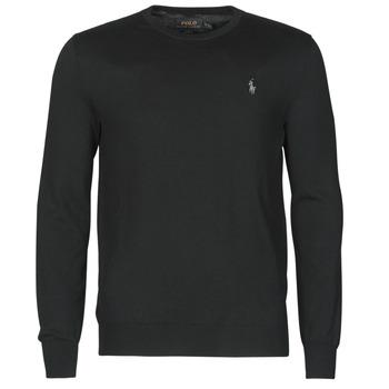 Oblačila Moški Puloverji Polo Ralph Lauren PULL COL ROND AJUSTE EN COTON PIMA LOGO PONY PLAYER Črna