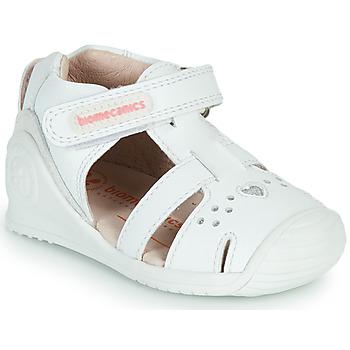 Čevlji  Deklice Sandali & Odprti čevlji Biomecanics 212104 Bela / Srebrna