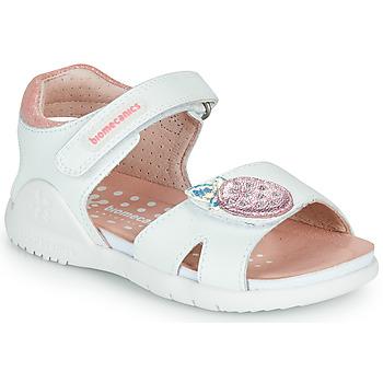Čevlji  Deklice Sandali & Odprti čevlji Biomecanics 212163 Bela / Rožnata