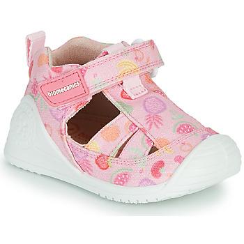 Čevlji  Deklice Sandali & Odprti čevlji Biomecanics 212212 Rožnata