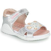 Čevlji  Deklice Sandali & Odprti čevlji Biomecanics 212172 Srebrna