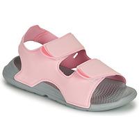 Čevlji  Deklice Sandali & Odprti čevlji adidas Performance SWIM SANDAL C Rožnata