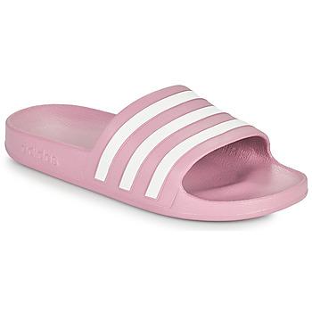 Čevlji  Ženske Natikači adidas Performance ADILETTE AQUA Rožnata