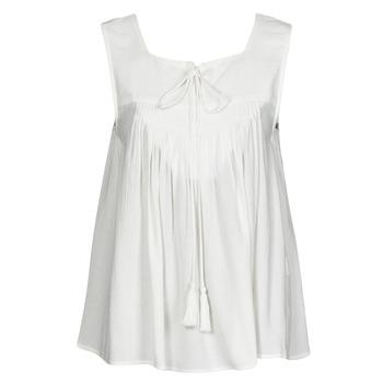 Oblačila Ženske Majice brez rokavov See U Soon 21111205B Bela