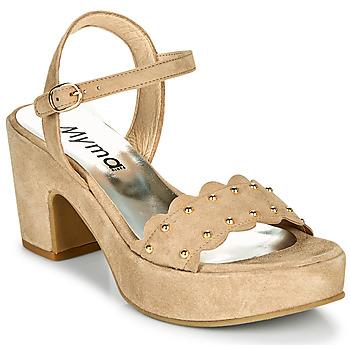 Čevlji  Ženske Sandali & Odprti čevlji Myma POULIDOU Taupe